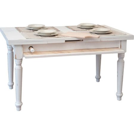 £469.95 Made to order in Italy, this innovative wooden table features a pull-out rolling pin and surface space for cutting and rolling pastry.