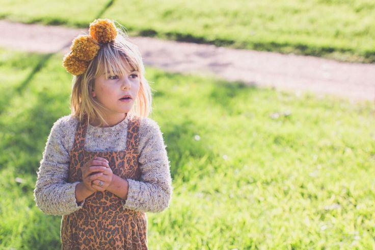 A child's wonder - Matilda in the Jungle Fever Overalls
