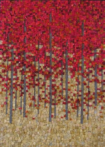 Red Maples by Terri Borges Maplestone Gallery Contemporary Mosaic Art