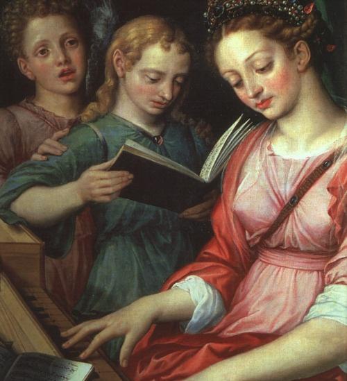 Saint Cecilia 1569   Michiel van Coxcie  Museo del Prado, Madrid