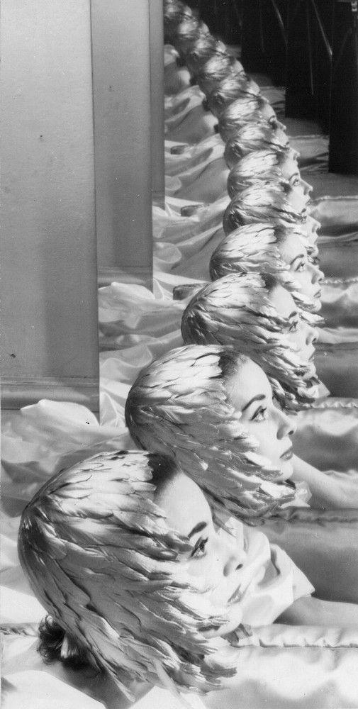 Audrey Hepburn photographed by Erwin Blumenfeld, 1952