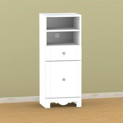 white lacquer low bookcase 2
