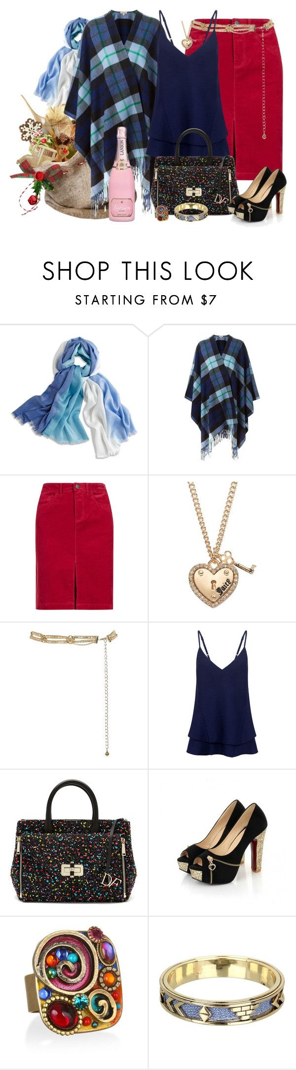"""""""Santa Claus is Coming to Town"""" by winscotthk ❤ liked on Polyvore featuring Chico's, P.A.R.O.S.H., Indigo Collection, Juicy Couture, C/MEO COLLECTIVE, Diane Von Furstenberg and House of Harlow 1960"""