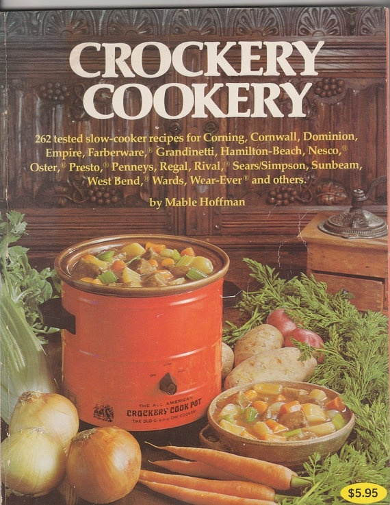 Vintage Rival Crock Pot Slow Cooker Electric Cook Book ... |Vintage Recipe Book Crock Pot