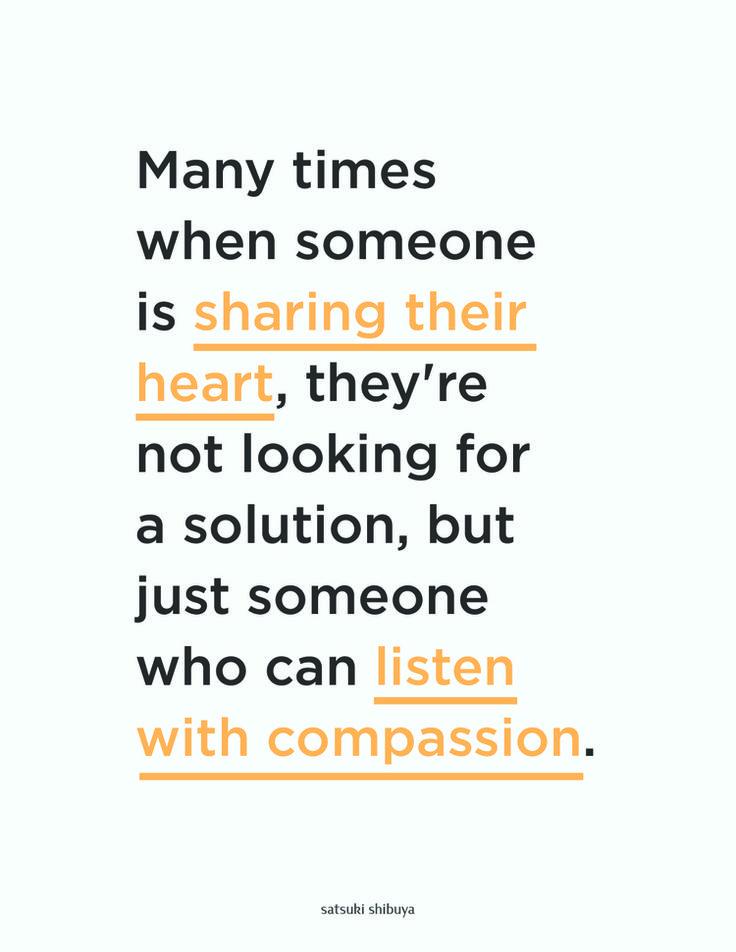 listen with compassion — satsuki shibuya