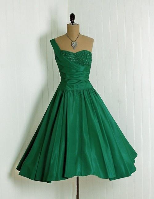 37 best images about Green Dresses on Pinterest | Vintage dresses ...