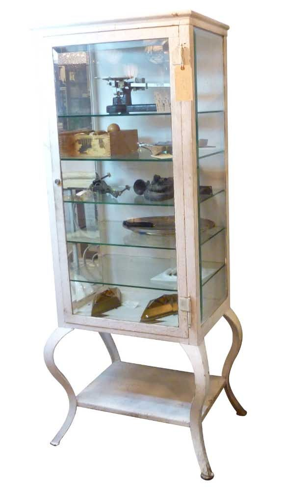 Vintage Medical Cabinet With Cabriole Legs