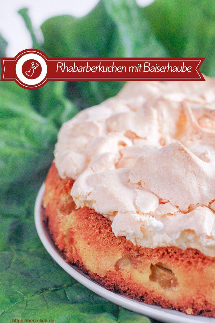 Rhabarberkuchen mit Baiserhaube – flottes Rezept