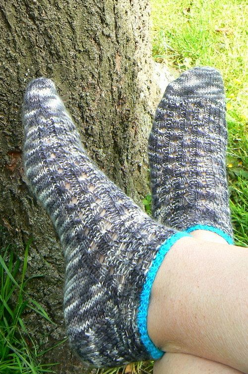 socks - my hand made - ponožky melírky