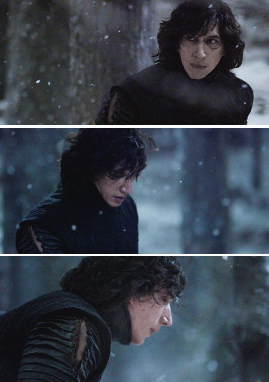Adam Driver BTS - Kylo ren Snow fight