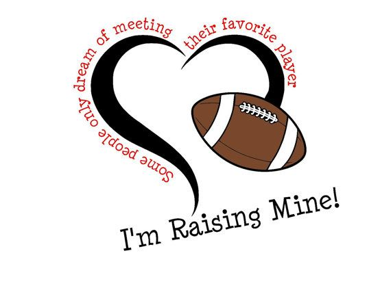 Raising My Favorite Football Player SVG or by MandaNoelle on Etsy