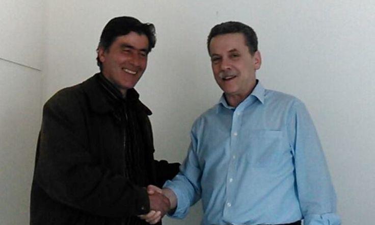 Συνάντηση του Γιώργου Πετρίδη, με τον επικεφαλής του συνδυασμού, Λάζαρο Μαλούτα #ekloges2014, #kozani, #enothta, #maloutas, #enotita