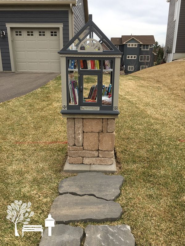 Library #52927. Dayton, MN. An upcycled antique birdhouse, what a smart idea!