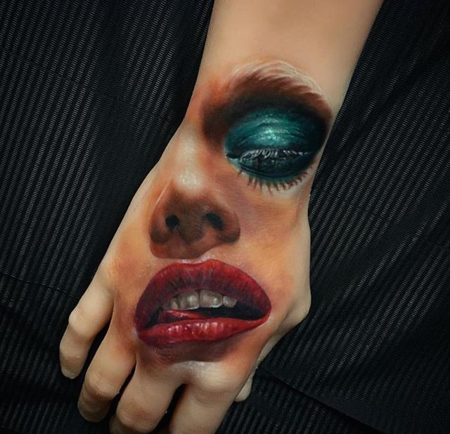 Face on a Hand
