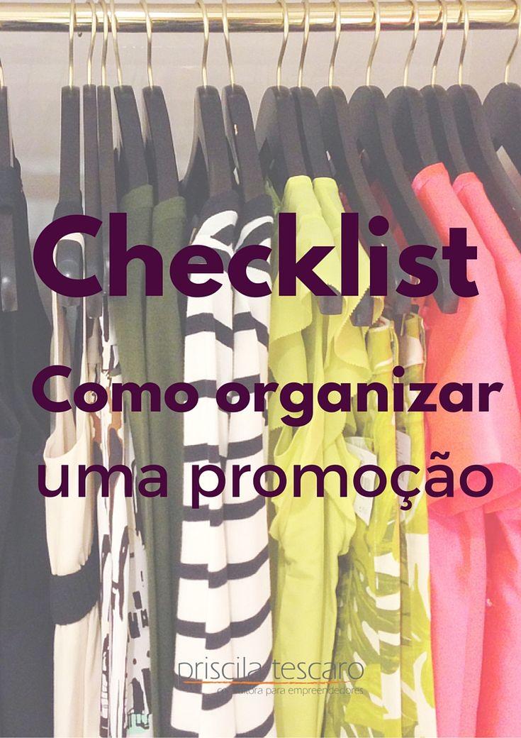 """Baixe grátis o checklist """"Como organizar promoções em seu negócio"""" - www.priscilatescaro.com.br/inscreva-se/ #empreendedorismo #empreender #pequenosnegocios #marketingparaempreendedores"""