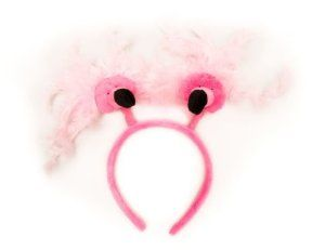 """Flamingo Head Bopper Headband by Busch Gardens. $14.95. Pink fabric covered head band. One Size. Two Springy Pink Flamingoes. Smooth metal """"springs"""". For ages 13 and up. Bop and bounce the day away with our """"pretty in pink"""" flamingo head bopper headband. You just gotta """"get happy"""" when you wear these bright birds on your head!"""