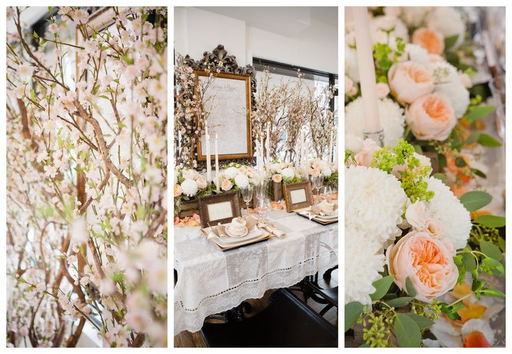 Peach and Ivory Wedding Details