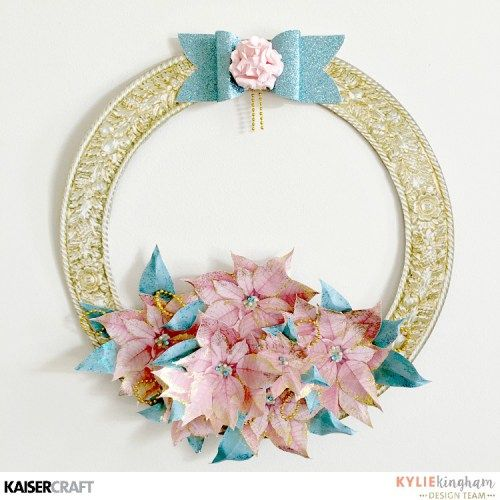 """Christmas Wishes Wreath"" by Kylie Kingham DT for Kaisercraft using 'Christmas Wishes' collection ~ Wendy Schultz ~ Christmas Crafts"