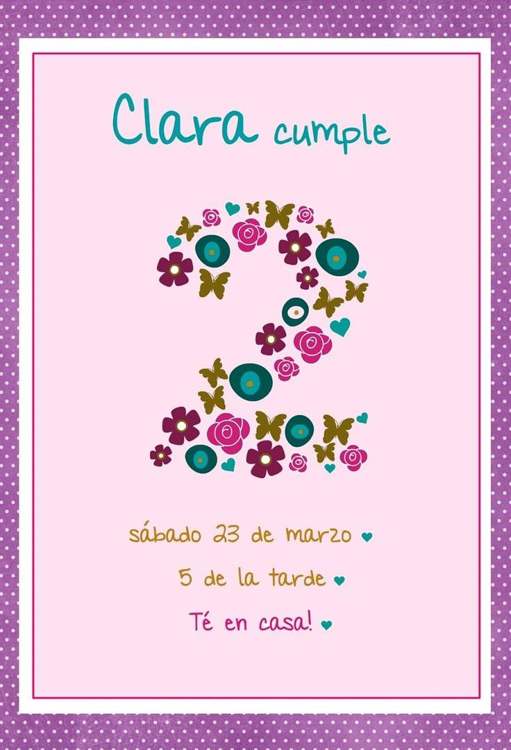 Invitación para los 2 de Clarita