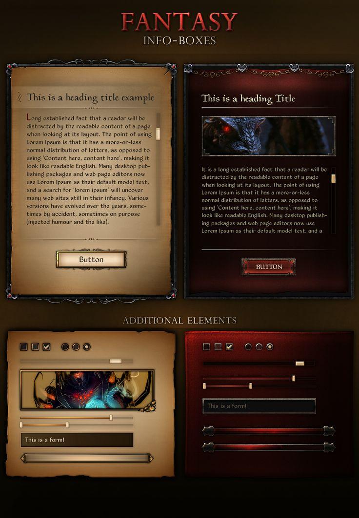Fantasy Info Boxes by VengeanceMK1