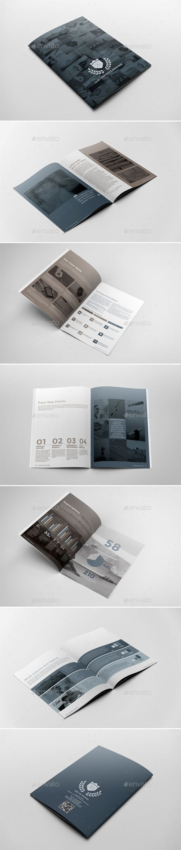 Corporate Brochure Report Template PSD, InDesign INDD