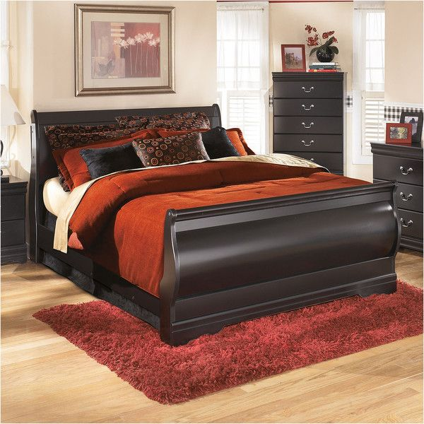 Signature Design by Ashley Guthrie Bed   549    liked on Polyvore featuring  home. Best 25  Black sleigh beds ideas only on Pinterest   Cherry wood