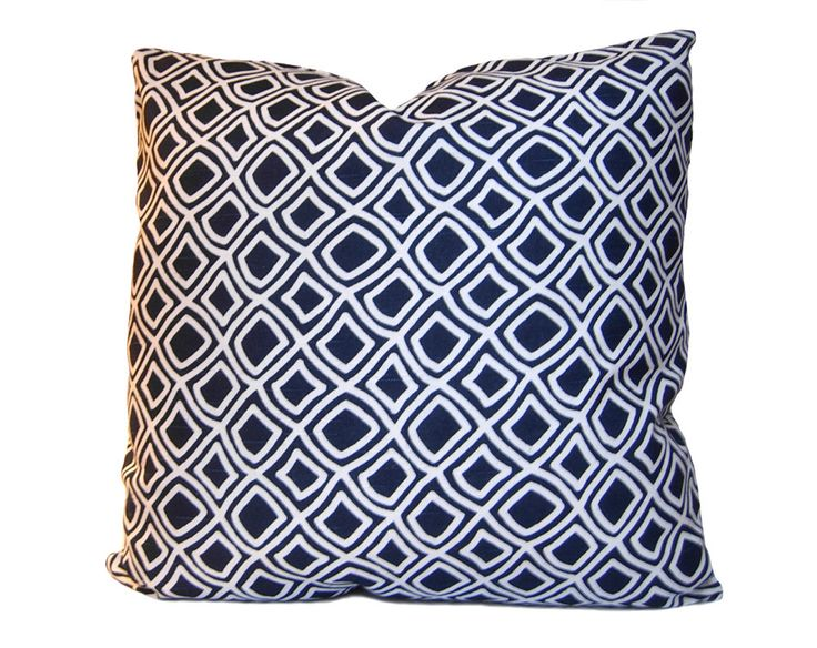 ON SALE - Trellis Decorative Pillow - Modern and Traditional Pillow Cover in a Geometric Lattice Pattern - Navy Blue & White -  Throw Pillow by StitchedNestings on Etsy https://www.etsy.com/listing/89555314/on-sale-trellis-decorative-pillow-modern