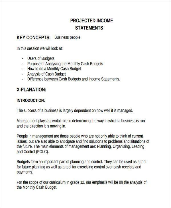 Income Statement Templates 29+ Free Docs, Xlsx  PDF Free