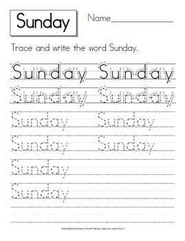 78+ images about Days of the Week! on Pinterest | Notebooks ...