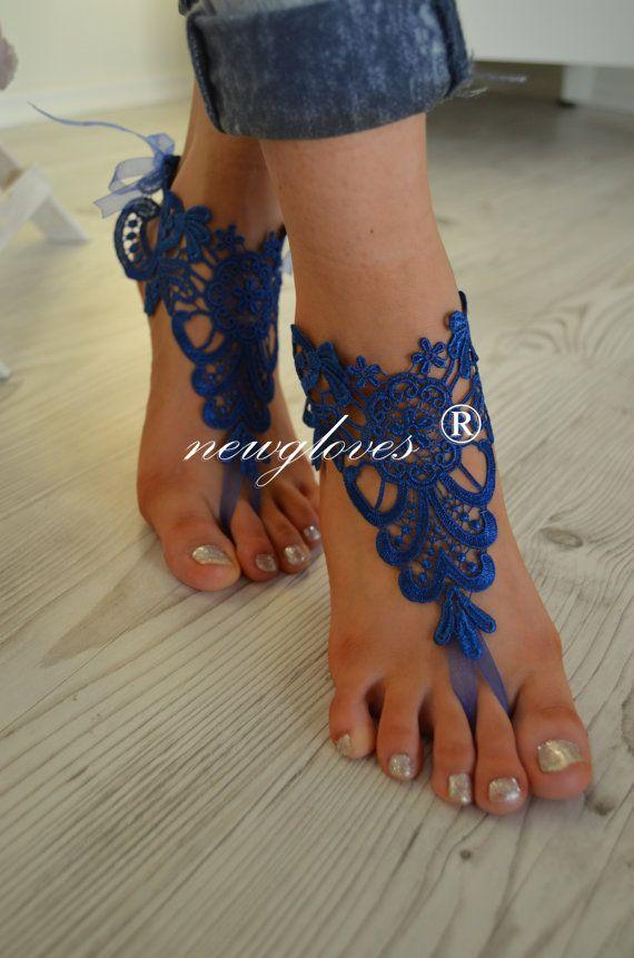 dark blue navy blue free shipping Beach wedding White by newgloves, $25.00
