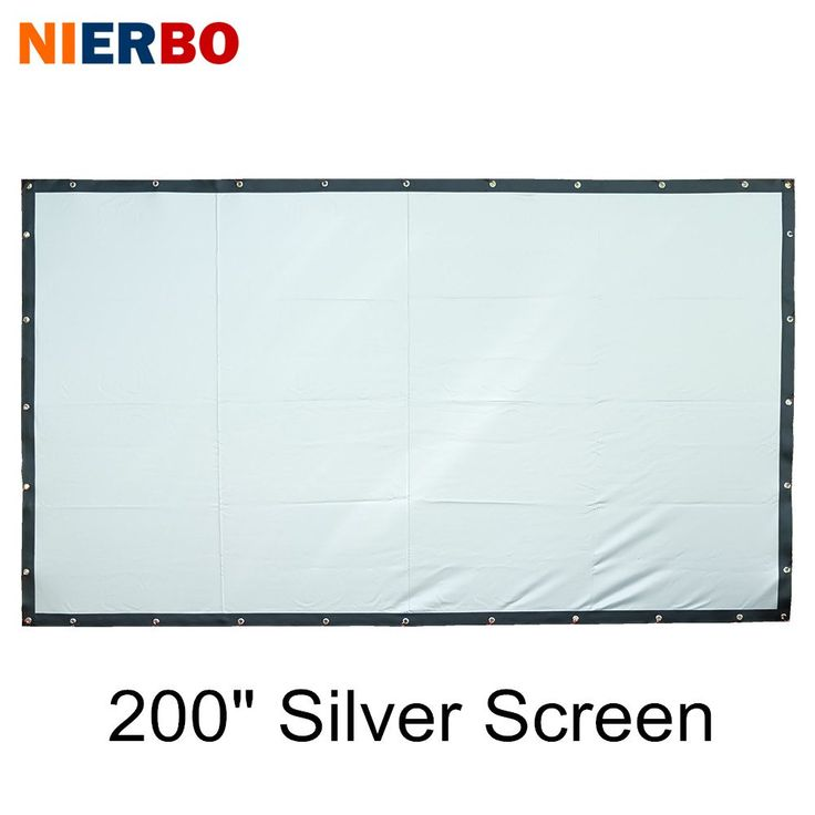 Portable Projector Screen 200 Inches Home Cinema Screen Ceiling Wall Mounted with Eyelets Beamer Projector Camping Foldable 16:9 //Price: $343.73//     #shopping