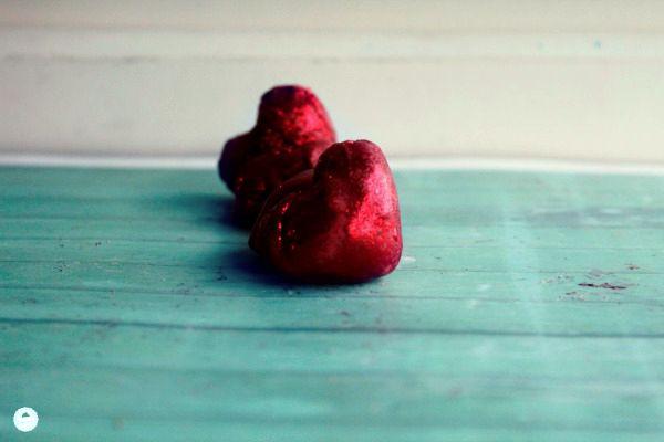 Como hacer mini bizcochos para San Valentín