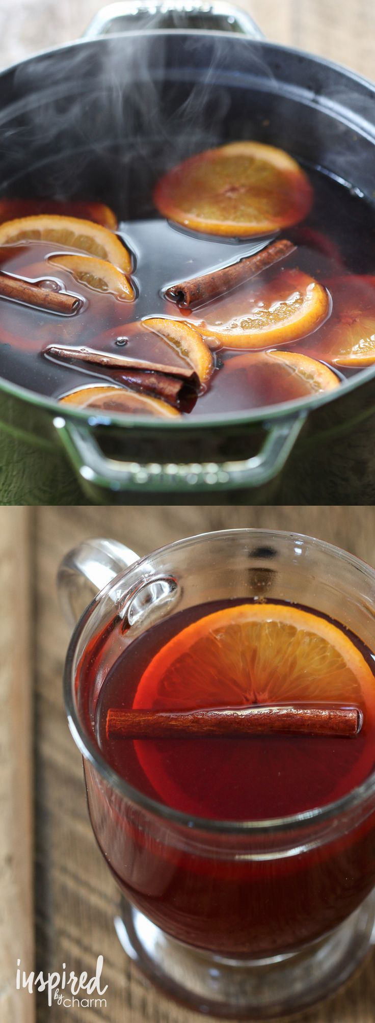 Mulled Wine Recipe | inspiredbycharm.com #fall #cocktail #wine