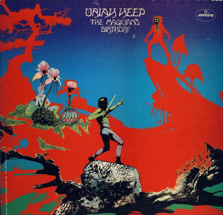 Another major arena act of the era who he painted covers for was Uriah Heep. Description from hymiesrecords.com. I searched for this on bing.com/images
