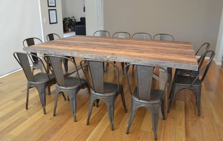 1000 ideas about rustic dining table set on pinterest for 12 seater farmhouse table