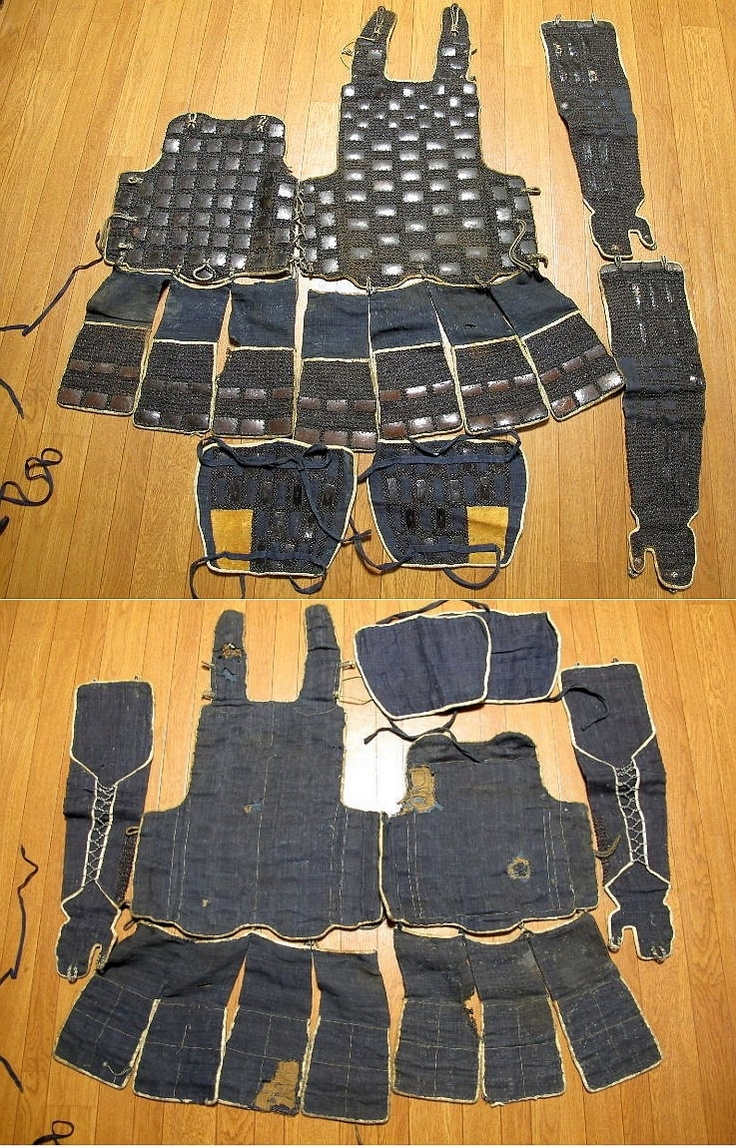 Antique Edo period karuta tatami dou gusoku, this type of light weight portable armor was worn by ashigaru foot soldiers.