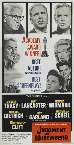 """Judgment at Nuremberg"" (1961) Won Best Picture & Best Screenplay at the 1962 Academy Awards"