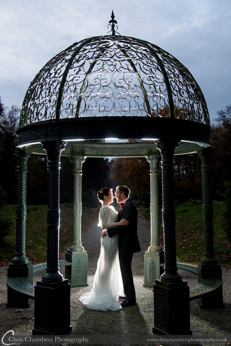 Rossington Hall wedding photography   Rossington Hall wedding photographer   http://www.chrischambersphotography.co.uk Under the gazebo at Rossington Hall