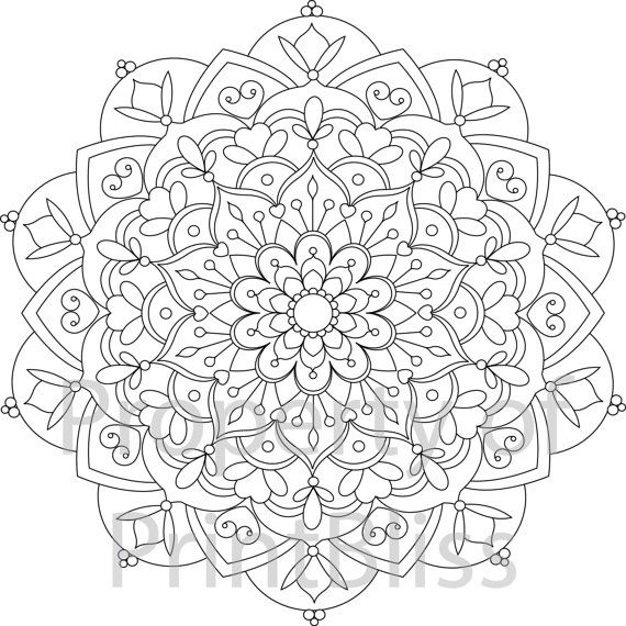 25 b sta id erna om mandala printable p pinterest adult coloring pages. Black Bedroom Furniture Sets. Home Design Ideas