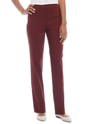 Ruby Rd Women's Key Items Millennium Stretch Pants - Burgandy - 12 Average