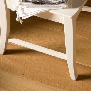 Oak wood floor with an oil finish.