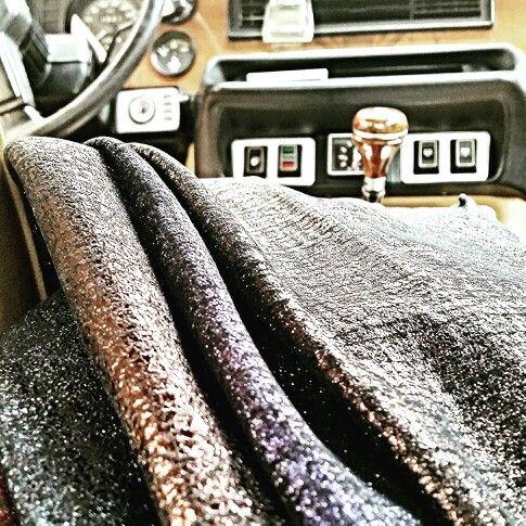 QUBE. Washed laminated leather