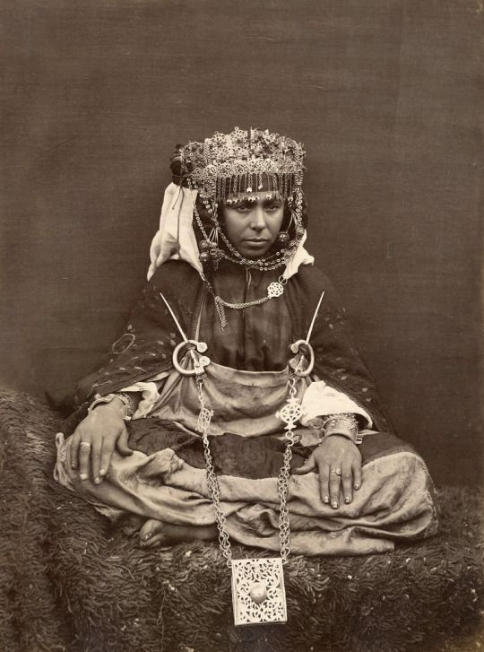 Woman of the Awlad Nail tribe, Biskra, Algeria, c 1880 by Benbouzid