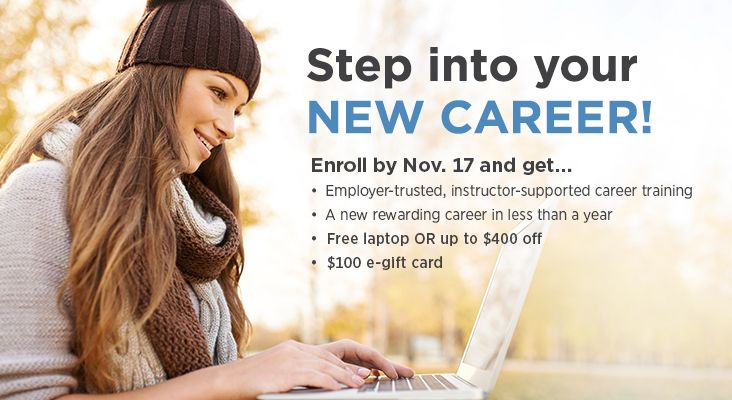 Free laptop & gift card when you enroll by Nov. 17