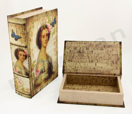 Κουτί βιβλίο ξύλο-ύφασμα! Είδη συσκευασίας δώρων και διακόσμησης! | bombonieres.com.gr