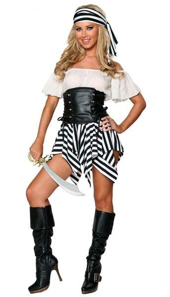 white off shoulder womens halloween pirate costume - Halloween Pirate Costume Ideas