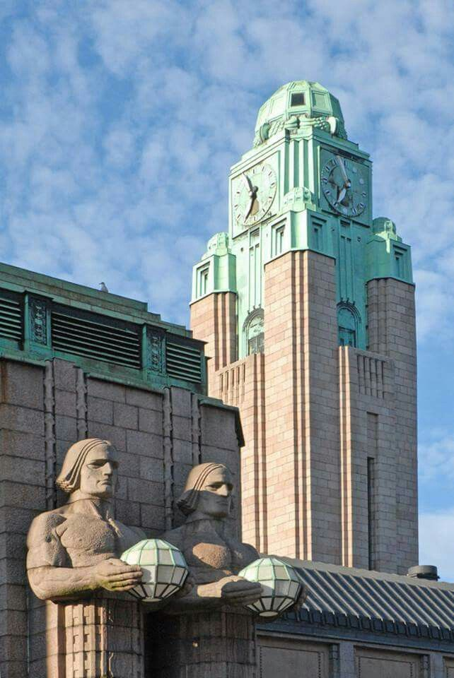 Art Deco architecture statue.