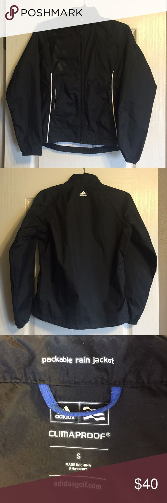 Adidas Ladies ClimaProof Golf Rain Jacket Adidas Ladies ClimaProof Golf Rain Jacket in excellent condition, worn a couple times. Adidas Jackets & Coats Utility Jackets