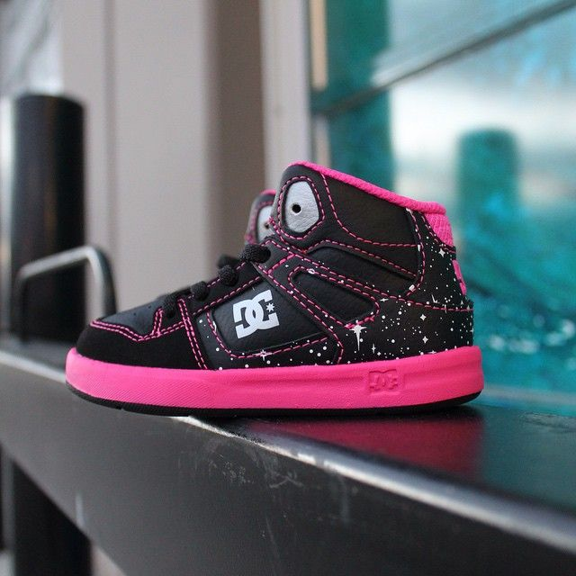 For the love of shoes. New little girls @dcshoes high tops