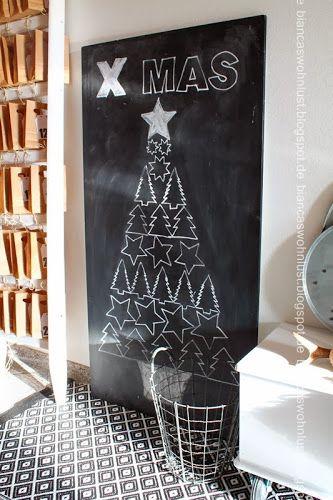 Sapin sur tableau noir #Noël   via ATELIER RUE VERTE le blog